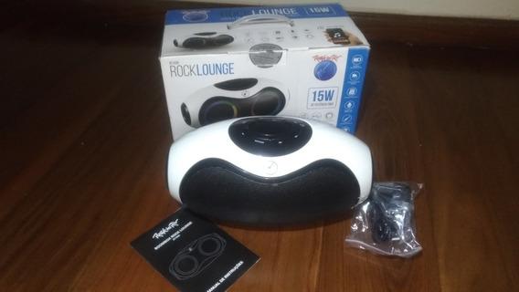 Caixa De Som Bluetooth Boombox Rock Lounge Led Com Rádio Fm