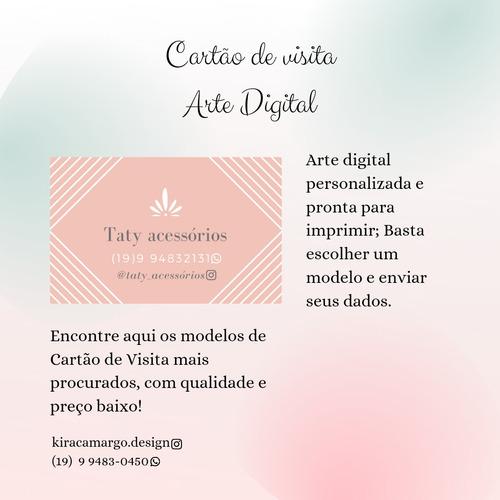Imagem 1 de 1 de Cartão De Visita Arte Digital
