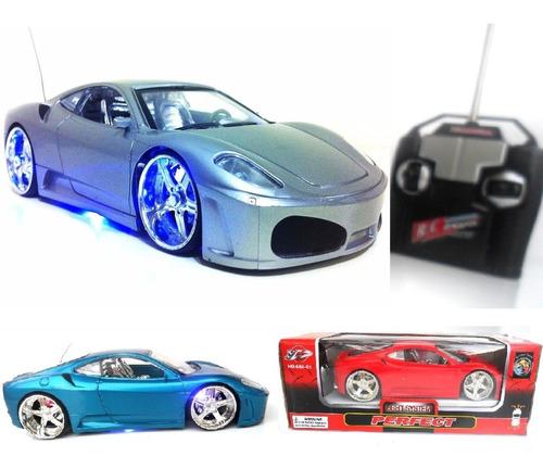 Carro Carrinho Controle Remoto Ferrari Rebaixado Neon Full