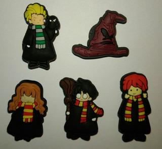 Jibbitz Harry Potter Com 5 Bottons - Pin Para Crocs