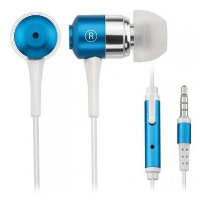 Fone De Ouvido Com Mic.fone Atende Ligação -ph060-azul Metal