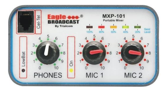 Consola De Radiodifusion Mxp 101 Con 2 Canales Trialcom Nnv