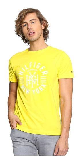 Playera Tommy Hilfiger Hombre Amarilla 100% Original Nueva