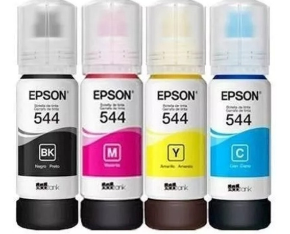 Kit 4 Tintas 544 Refil Epson L3150 Original