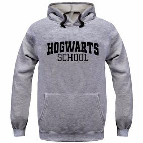 Blusa Moletom Hogwarts School Harry Potter Canguru Com Capu