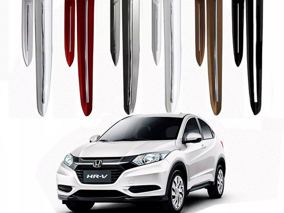 Friso Lateral Hr-v Com Filete Cromado E Cor Igual Ao Carro 2015 2020