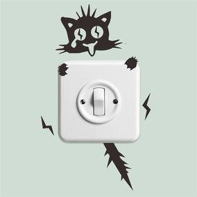 Honan Chocado Interruptor De Gato Elétrico Adesivo Engraçado
