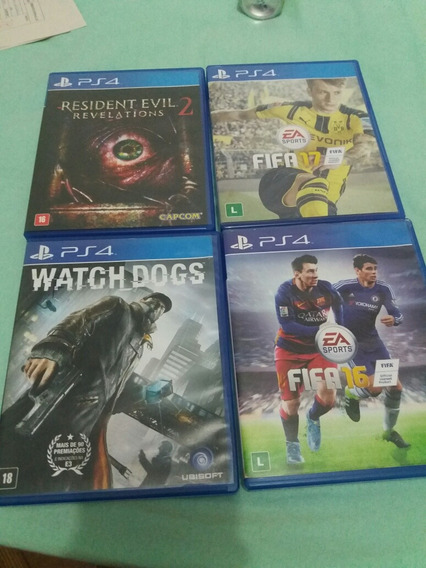Watch Dogs, Fifa 16 E 17., R. Evil Revelations 2.