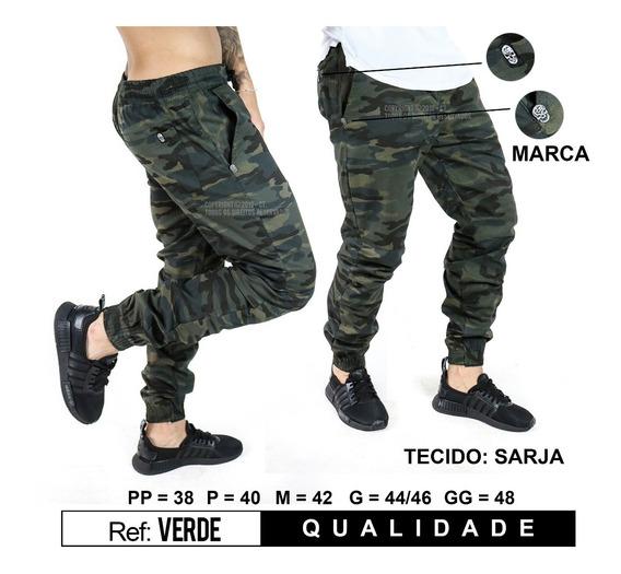 Calça Jogger Masculina Jeans Punho Sarja Marca Qualidade Top