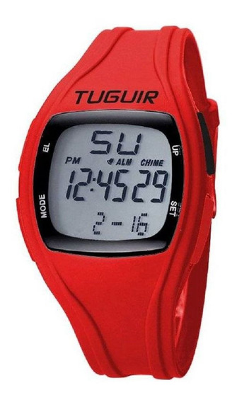 Relógio Unissex Tuguir Digital Tg1602 - Vermelho