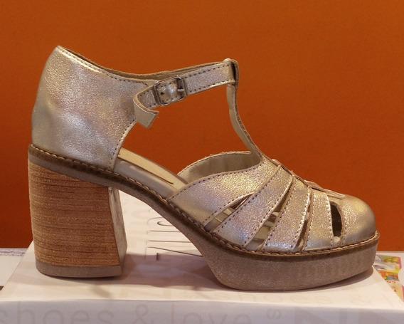 Sandalias Cuero Mujer Zuca Art 490 Zona Zapatos