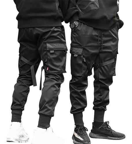 Imagem 1 de 9 de Calças Cargo Casual Harem Joggers Hip Hop Masculina
