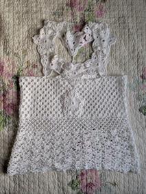fb005cc9e0a18e ... Veste P M Bom Estado. Usado - Santa Catarina · Blusa De Crochê Branca  Com Detalhes De Flores
