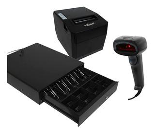 Kit Punto De Venta Scanner Impresora Termica 80mm Cajon