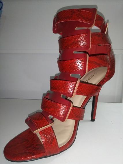 Zapatos De Fiesta Rojo Importados! Envío Gratis!