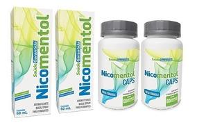 Nicomentol Pare De Fumar Rapidamente | Kit 2 Spray + 2 Caps