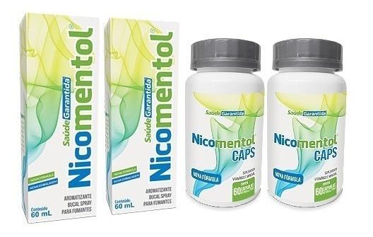 Nicomentol Pare De Fumar Rapidamente   Kit 2 Spray + 2 Caps