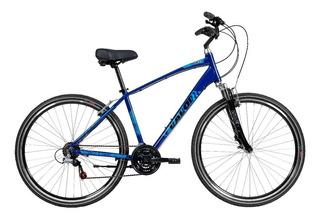 Bicicleta Aro 700 Urbana 21v Mobilidade Alum Azul - Caloi