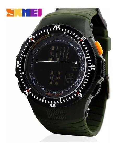 Relógio Tático Militar Skmei Display 0989 Verde Original