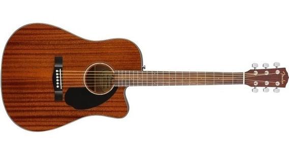 Fender Cd-60sce All Mahogany Caoba Electroacustica - Cuotas