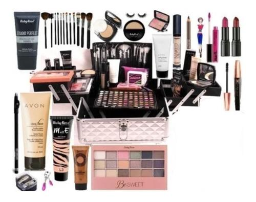 Maleta + Maquiagem Completa Avon Jasmyne Vários Itens  V479