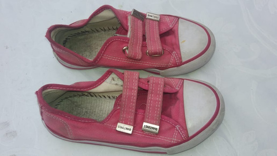 Tênis Starzinho De Velcro Rosa Pink - 31 - F&s