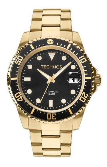 Relógio Technos Masculino Ref: 8205ny/4p Automático Dourado