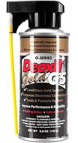 Hosa G5s6 Caig Desoxit Mejorador De Contacto 5% Spray, 5 Oz