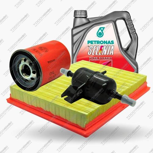 Kit 3 Filtros + Aceite Selenia Fiat Idea 1.4 Original