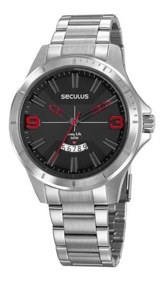 Relógio Masculino Seculus Texturizado Original 77035g0svna1