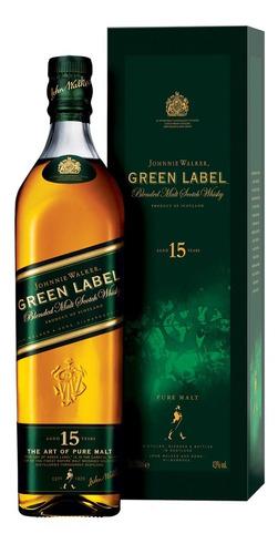 Whisky Johnnie Walker Green Label 750ml En Estuche Ed Vieja