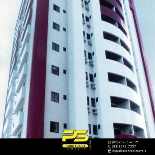 Apartamento Com 3 Dormitórios À Venda, 120 M² Por R$ 490.000 - Miramar - João Pessoa/pb - Ap3980