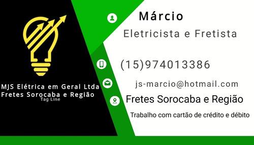 Imagem 1 de 4 de Serviços De Eletricista Em Geral E Pequenos Fretes Sorocaba
