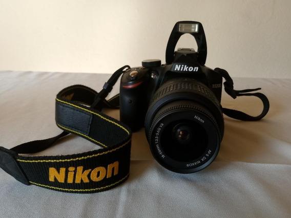 Máquina Profissional Nikon D3200 + Bolsa De Transporte