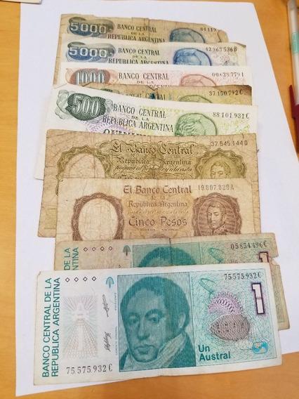 Lote De 9 Billetes Antiguos Argentinos