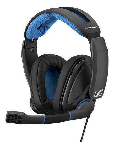 Fone de ouvido gamer Sennheiser GSP 300 preto e azul