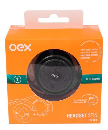 Fone De Ouvido Esportivo Bluetooth Oex Spin Hs308 - Preto