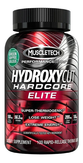 Hydroxycut Hardcore Elite 100 Capsulas Muscletech Super Oferta!