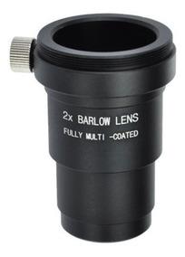 Lente Barlow 2x Metal Vidro Multicoated Telescópio 1.25