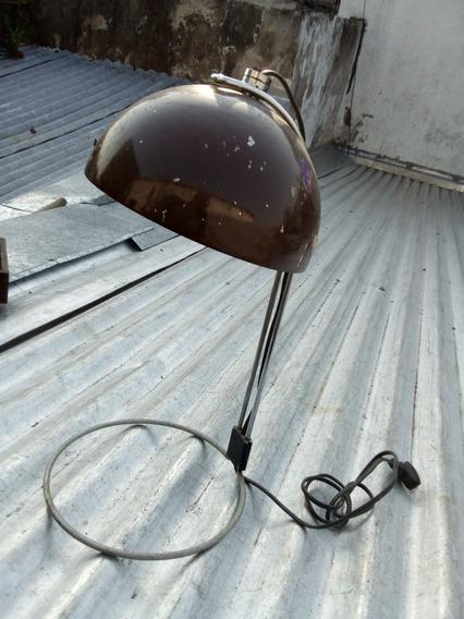 Antigua Lampara Velador Diseño Funcionando 21 Diam - 41 Alto