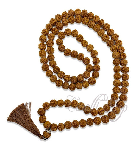 Collar Rosario Budista Rudraksha Japa Mala 108 Vidas + Envío