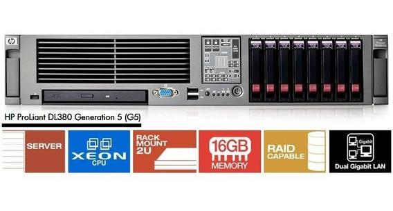 Servidor Hp Proliant Dl380 G5 - 2 Xeon / 28gb / 8x Hd 146g