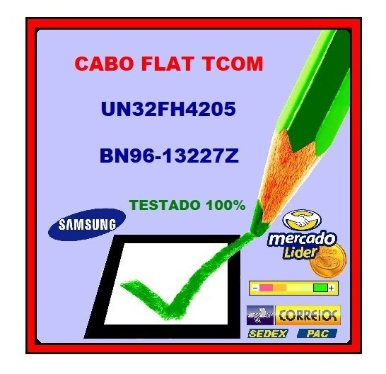 Cabo Flat Tcom Samsung Un32fh4205 Bn96-13227z