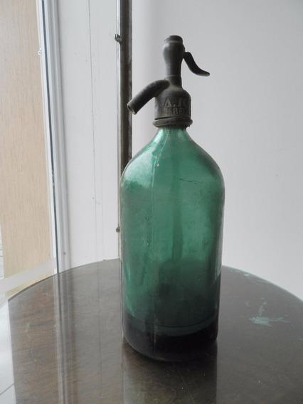 Antiguo Sifón Cabeza Plomo-verde Oscuro