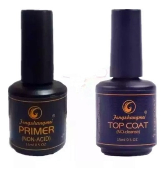 Kit Selante Top Coat Feng + Primer S/ Acido Unhas