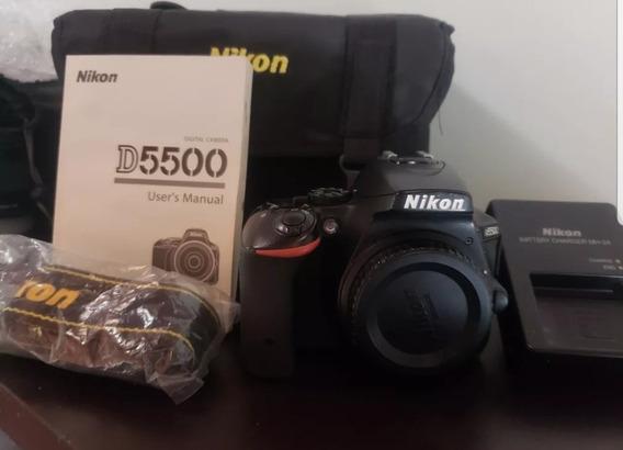 Nikon D5500 Con Lente 18-55. Impecable
