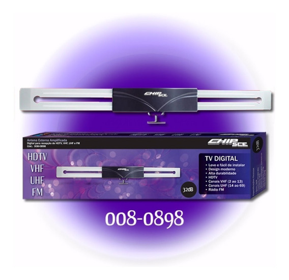 Antena Externa Digital/uhf/vhf/fm Amplificada 32db Chipsce
