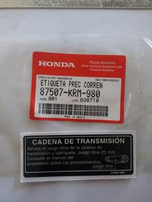 Adesivo Capa Corrente Titan 150 2006 A 2008 Original Honda
