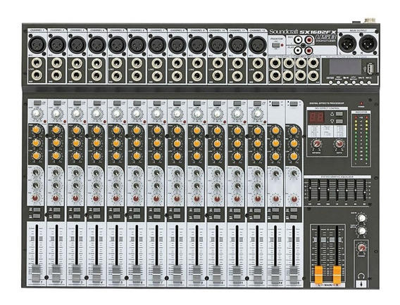 Mesa De Som Soundcraft Sx1602 Fx 16 Canais Usb Nf-e
