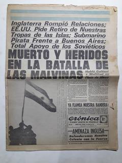 Diario / Revista Antigua: Crónica 2 De Abril 1982 Malvinas